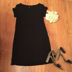 Banana Republic black cotton dress